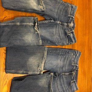 Girl's wrangler size 12 regular, 2 pairs.